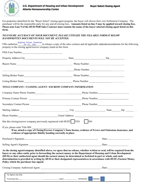BSCA Form Example